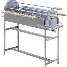 Нержавеющая сталь 5 об/мин 220 вольтным и вращающийся гриль на углях барбекю Электрический шампуры портативные вращающиеся курицы Гриль-барбекю для приготовления пищи на воздухе