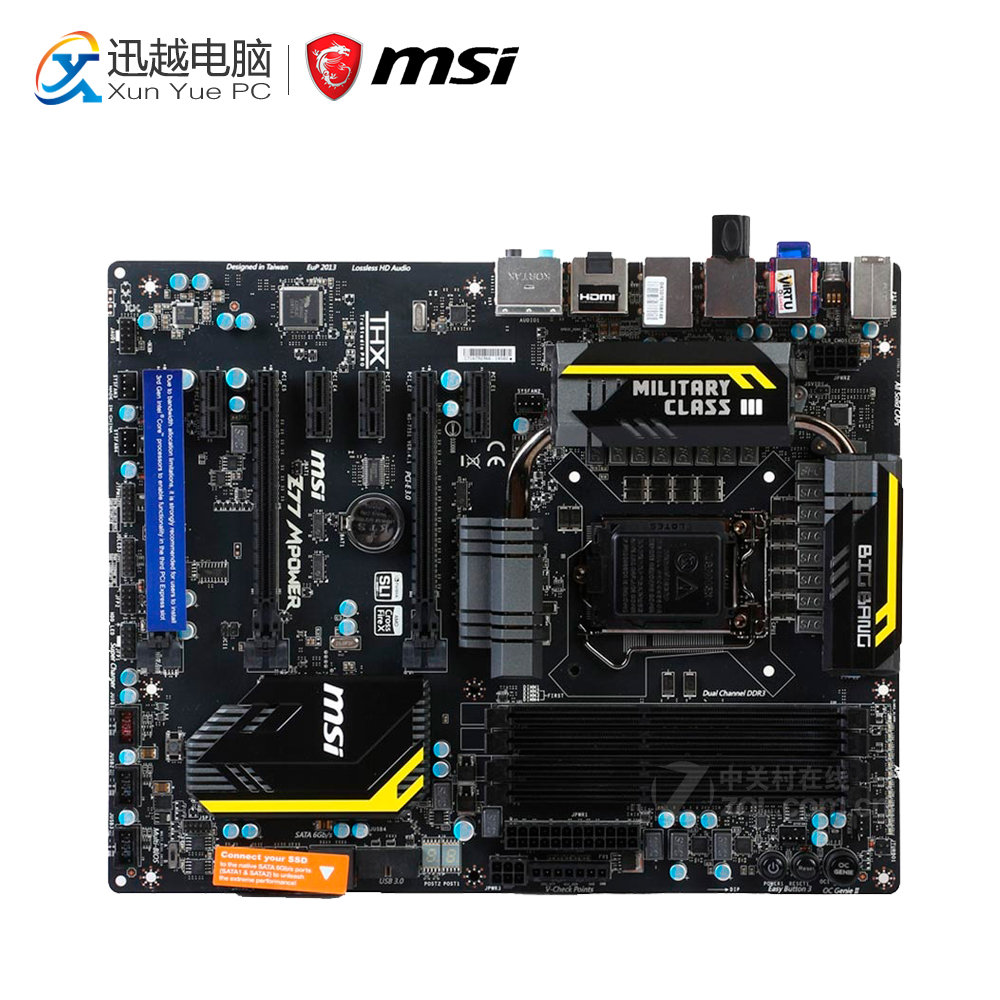 MSI Z77 MPOWER Desktop Motherboard Z77 Socket LGA 1155 i3 i5 i7 DDR3 USB3.0 ATX On Sale цена