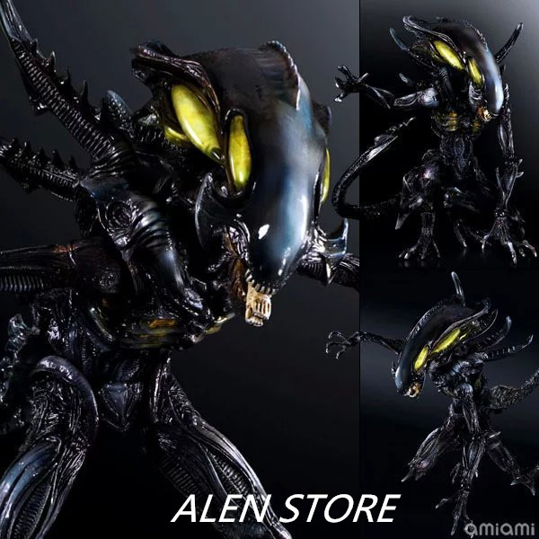 ALEN 27cm Play Arts Kai Movable Figurine Aliens vs Predator - Requiem PVC Action Figure Toy Doll Kids Adult Collection Model 27cm play arts kai movable figurine assassin s creed edward pvc action figure toy doll kids adult collection model gift