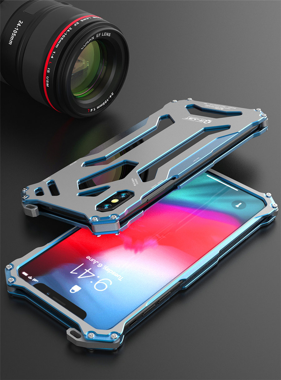 Cool Metal Phone Case For iPhone XS Max Case Cover For iPhone XS R-JUST Gundam Aluminum Case Coque Capa Funda For iPhone XR (10)