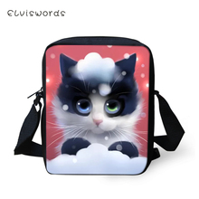 ELVISWORDS Fashion Messenger Bag Cartoon Cats Print Pattern Womens Over the Shoulder Kawaii Animal Crossbody Mini Purse