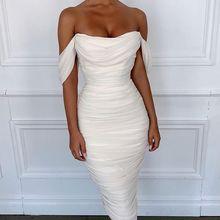 Высокое качество для знаменитостей белое кружевное с открытыми плечами вискозное Бандажное платье вечернее платье
