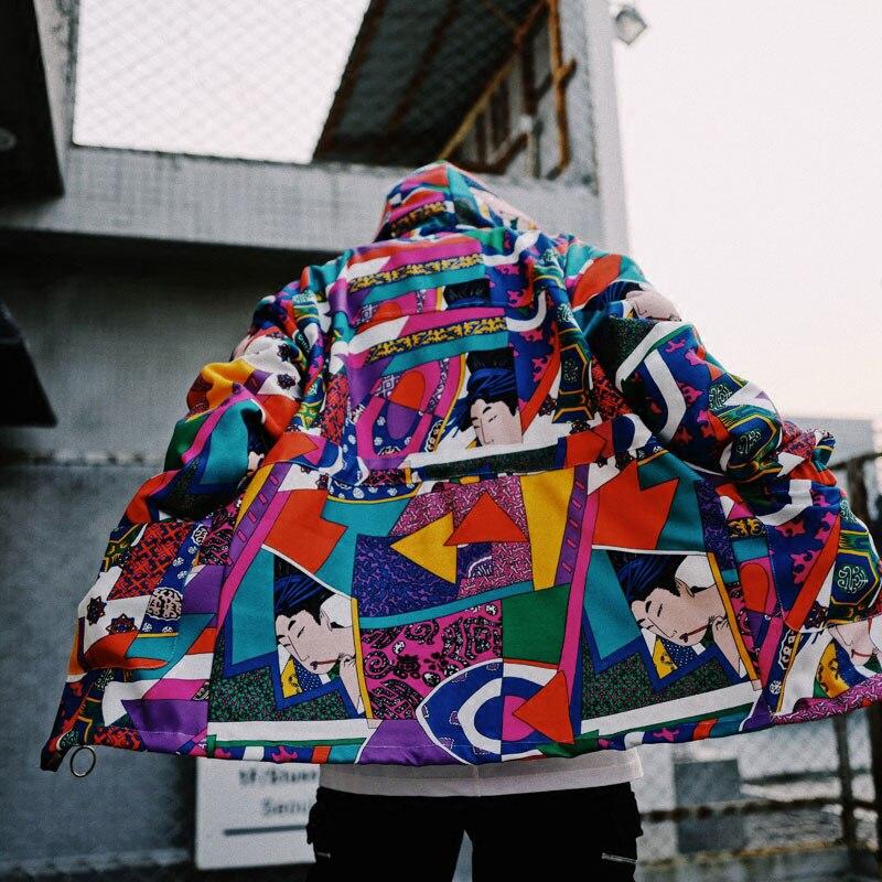 Japanese Ukiyo E Style Color Block Patchwork Jacket 2