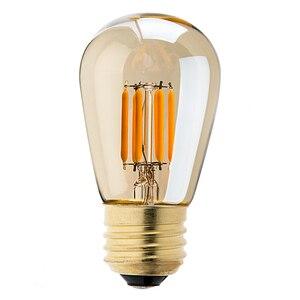 Image 3 - LED z możliwością przyciemniania w stylu Vintage żarówka edisona złoty odcień żarówki żarnikowe C35T C32T A19 ST45 ST64 G40 G80 G125 Retro lampa LED 220V E27 światła