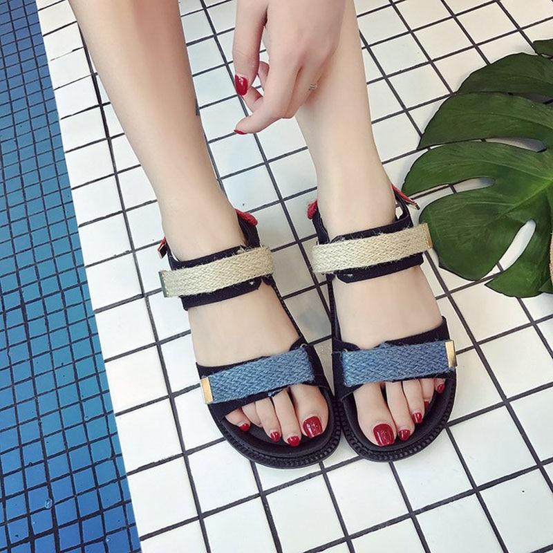 2019 Zapatos Sandalias Exterior Moda PrimaveraVerano Velcro Casual Cómodas Mujeres Señoras b6gY7yf