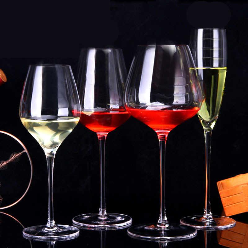 Whisky Cốc Thủy Tinh Pha Lê Cốc Tập Uống Chén Rượu Kính Cường Lực Màu Đỏ Rượu Vang Cốc Champagne Thủy Tinh Bộ Đồ Ăn Bữa Tối Chén Rượu Barware Thanh Kính quà Tặng