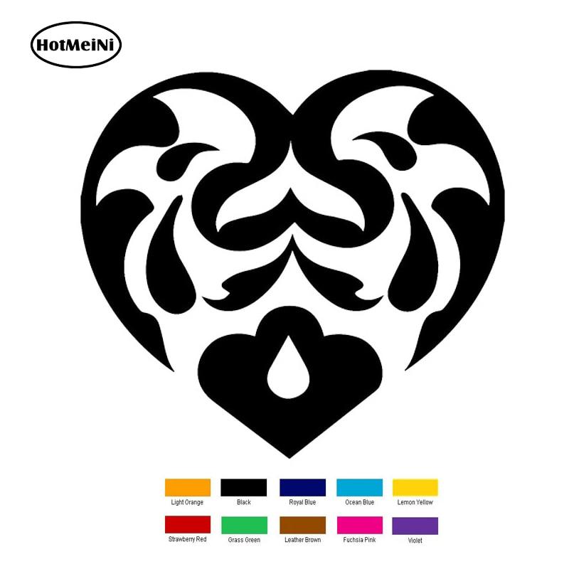 HotMeiNi 15cm x 15cm Abstract Heart Swirls Car Sticker For Truck Window Bumper Auto SUV Door Laptop Kayak Vinyl Black/Sliver