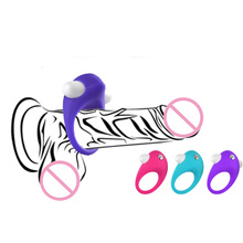Time Delay lasting Ring Vibrator Sexy Toys for Men New Silicone Vibrating Penis Ring Male Cock Ring Lock Sperm Ring Vibrator
