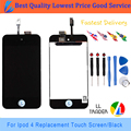 LL TRADER Black Hot Sell Good Quality Touch Screen for Apple ipod Touch 4 gen 4g Lcd Digitizer with Frame and Free Tools