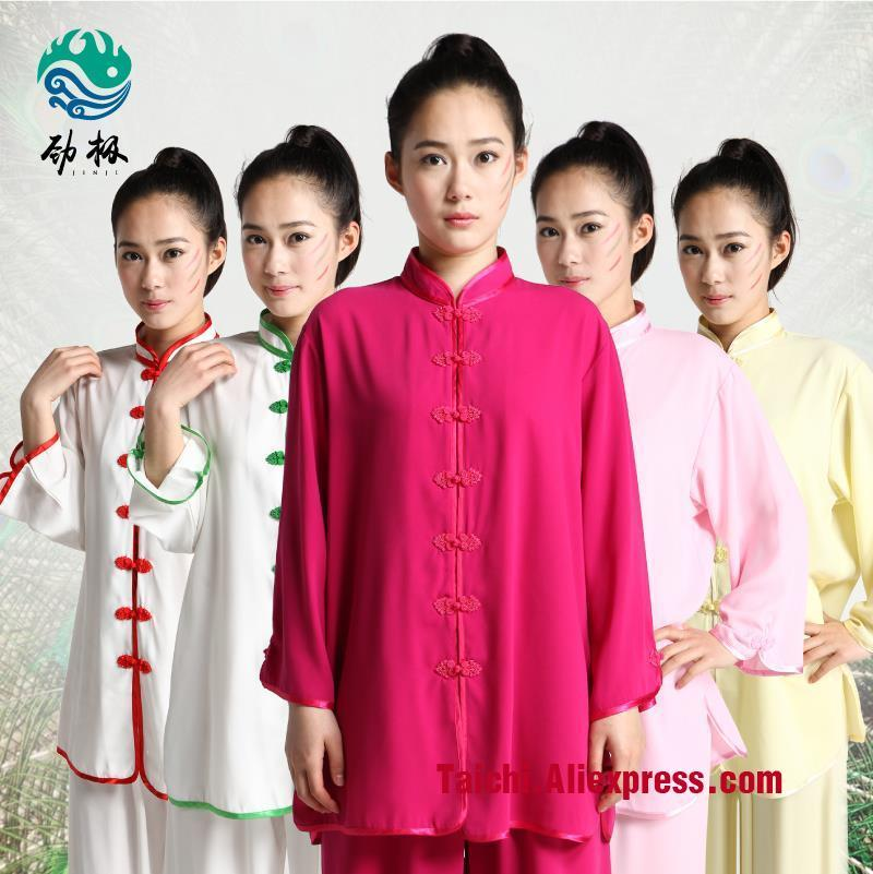 Female And Male Tai Chi  Cotton Clothing Summer Morning Suit Taijiquan Clothes Kungfu Martial Arts  Show Clothe