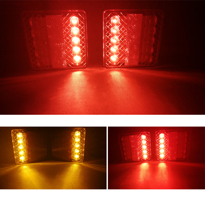 Image 5 - 1 pièce 12 v lumière LED de remorque camion léger camion camping voiture accessoire arrêt arrière frein indicateur de direction feu de position arrière
