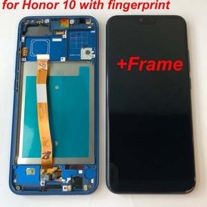 Image 3 - Plein Original nouveau pour Huawei Honor 10 COL L29 écran LCD + écran tactile numériseur assemblée remplacement + empreinte digitale + cadre 5.84