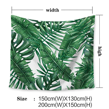 Miracille Polyester Tropical Plant Pattern Wall Cloth Hanging Tapestry Wedding Party Gift Bedspread Beach Towel Yoga Picnic Mat 3