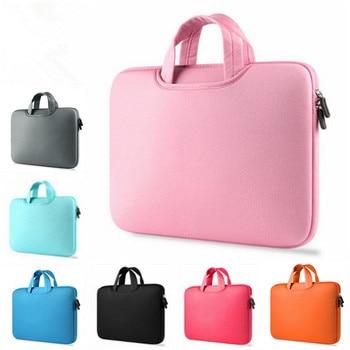 eac63820eead5 Yeni Fermuar Laptop Çanta Bilgisayar Kollu macbook çantası Hava Pro Retina  11 12 13 13.3 14 15 15.4 15.6 inç Dizüstü dokunmatik Bar Çanta
