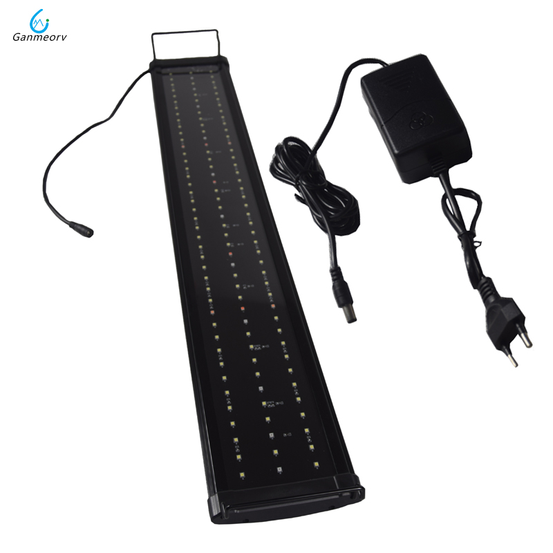 90 110cm 100 240V Aquarium LED Lighting Fish Tank Light Lamp with Extendable Brackets 5 colors LEDs Fit for Aquarium in Lightings from Home Garden