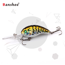 Banshee 50mm 10g  Floating Bass Fishing Lure VC04 Rattle Sound Wobbler Round Bill Artificial Hard Bait Deep Diving Crankbaits