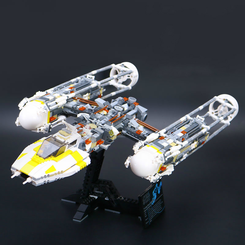 1550pcs Bricks Lepine 05040 Star Y-wing Attack fighter Wars Model Building Blocks Kits Toy for Children Compatible Legoe 10134 lepin 05040 y attack starfighter wing building block assembled brick star series war toys compatible with 10134 educational gift