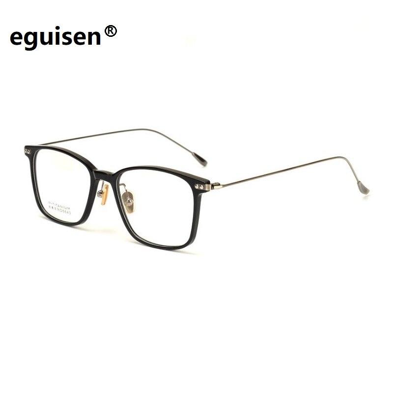 Largeur-145 nouveau ultra-léger jante complète B plaque de titane myopie Spectacle grand visage femme rétro hommes lunettes cadres lunettes pour femme