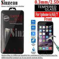 Sinzean 100 STÜCKE Für iphone 8/7/6 S Gehärtetem Glas schirmschutz für iphone 6/6 S/7/8 gehärtetem glas 0,3mm 2.5D