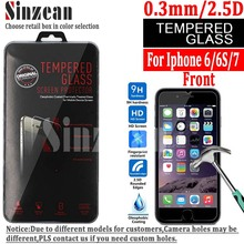 Sinzean 100PCS NEW Arrival For iphone 8/6/6S/7 Tempered Glass screen protector for iphone 6/6S/7/8 tempered glass 0.3mm 2.5D