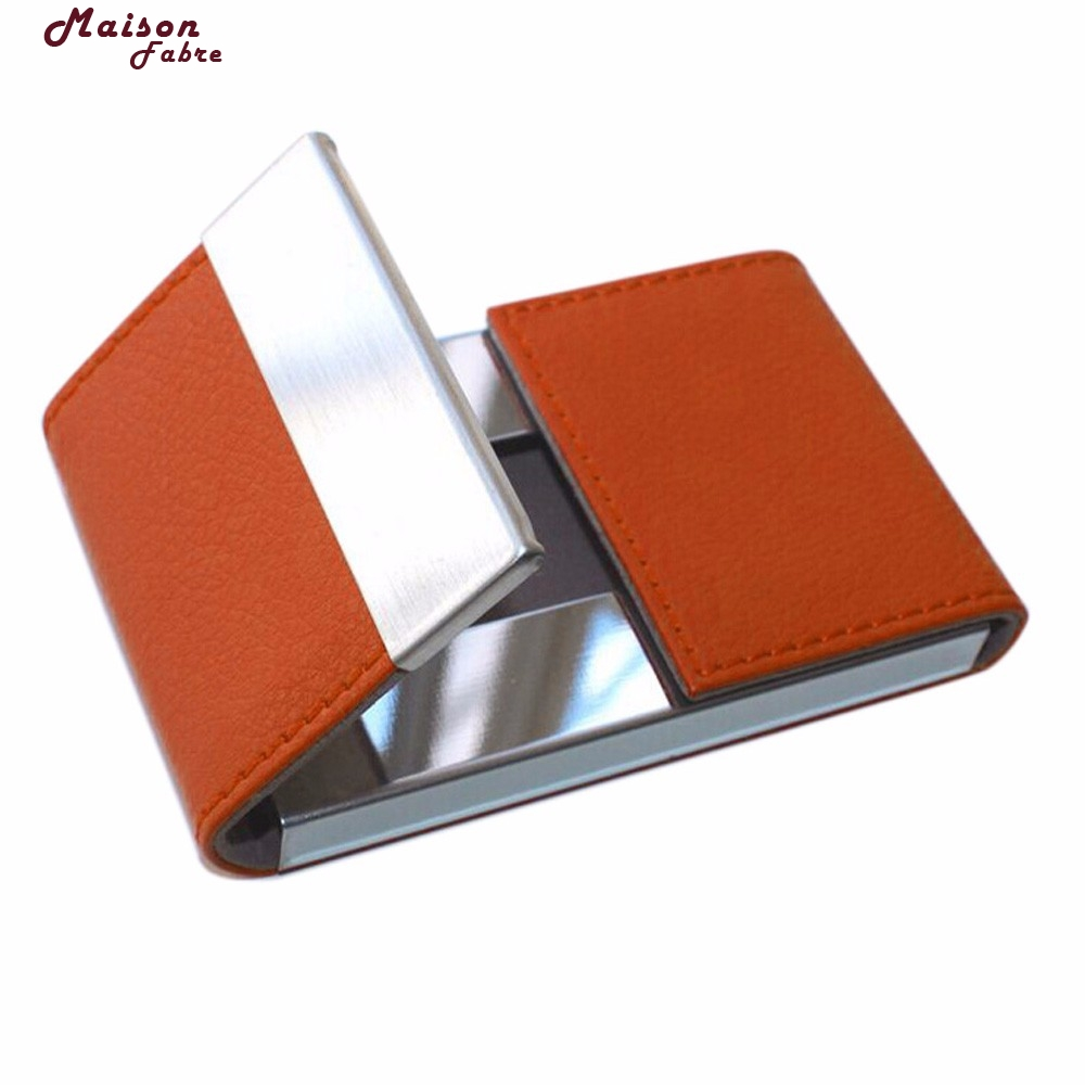 Maison Fabre New Fashion Mens Womens Leather Credit Card Holder/Case Card Holder Wallet Business Card Package Faux Leather Bag