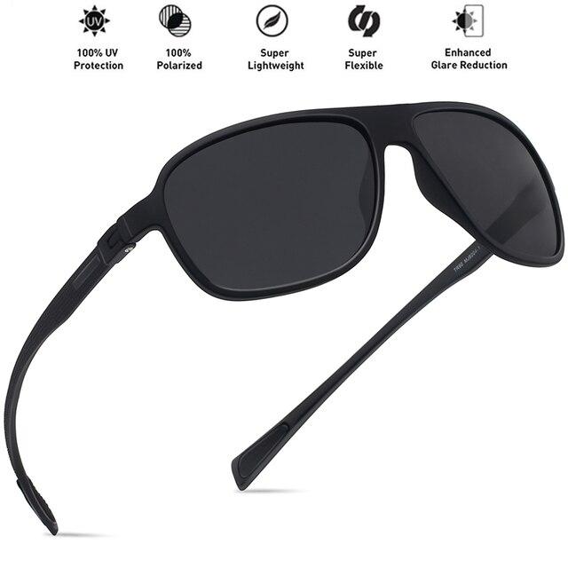 724e5d9dbd MAXJULI Men Polarized Sunglasses TR90 Unbreakable Ultralight Flat Top  Sports Driving For Male UV400 Women Hiking Eyewear MJ8004