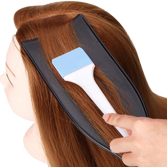 Pro salón peluquería tablero de teñido DIY tinte para el cabello placa de recubrimiento largo para el diseño de barbero herramientas de diseño Accesorios