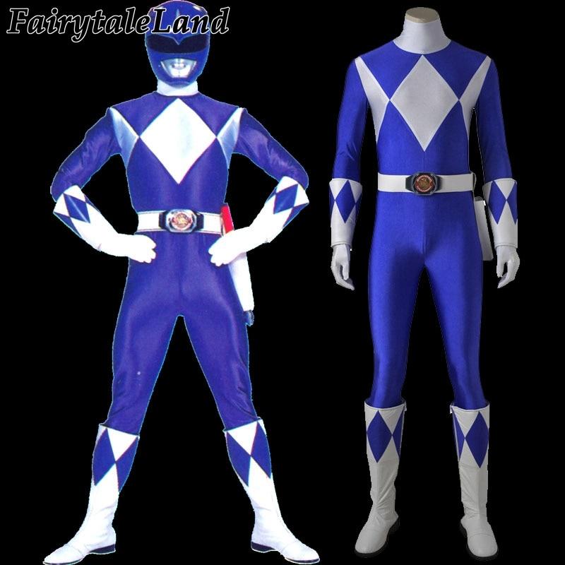 Tricera Ranger cosplay costume Halloween costumes for adult men dark blue Ranger jumpsuit Tricera Ranger Dan