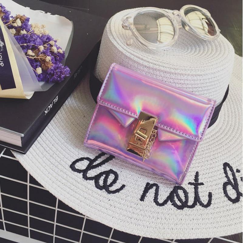 ABDB Women Fashion Hologram Handbag Laser-Coin Purse Wallet Card Holder Bag