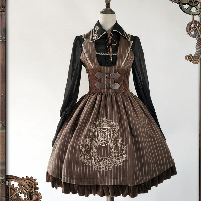 1b9ec3fca4f The Magic Circle ~ Steampunk Lolita JSK Dress Embroidered Sleeveless Corset  Dress by Infanta