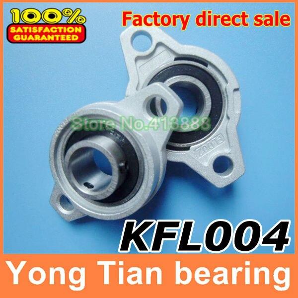 2pcs 20mm bore diameter kfl004 pillow block bearing flange rhombic bearings new 20 mm diameter zinc alloy bearing housings KFL004 flange bearing housings with pillow block