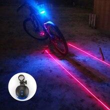 Bike light rear/Bike Lights 2 Laser 5 LED Cycling Bicycle Bike Taillight Bicycle Rear Lamp Warning Lamp Flash Alarm Light/lamp