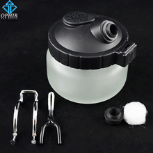 OPHIR Glass Airbrush Hanger Cleaner Cleaning Pot Jar Airbrush Cleaning Bottles Kits for Model Air Compressor/Airbrush Kit _AC009