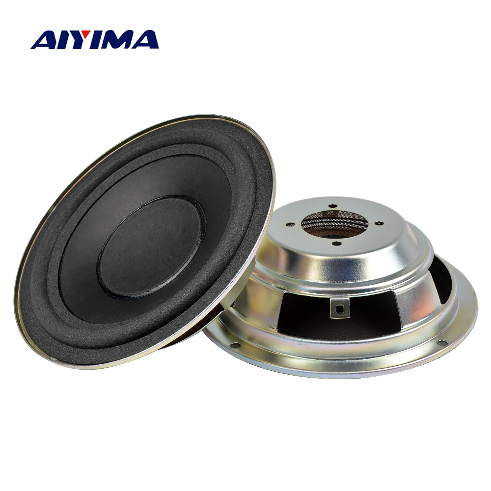 AIYIMA 2PCS 6.5 Inch Passive Bass Radiator Paper Cone Radiator Auxiliary Rubber Vbration Plate For Woofer Subwoofer LoudSpeaker