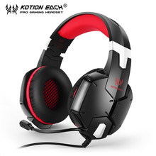 Gaming Headphone KOTION EACH 3.5mm Game Headset Noise Canceling Headband Headphones with Mic Microphone for PC Laptop Cell Phone