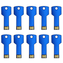 J-boxing 10PCS/LOT USB Flash Drive Key Shape Thumb Pen Drive Memory Stick Pendrive for Computer Macbook 1G 2G 4G 8G 16G 32G Blue 10pcs lot pmc pm25lv010 4 mbit uniform sector serial flash memory