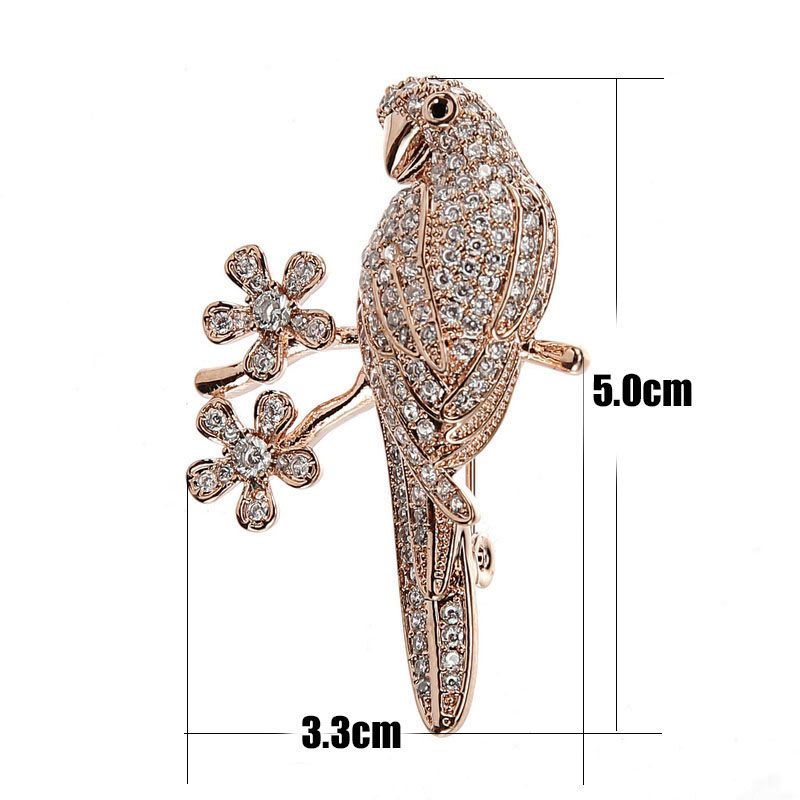 Micro Pave Ladies Elegant Brooch Gold Color Metal Austrian Crystal Animal Bird Brooch Zirconia Pins and Brooches for Women (5)