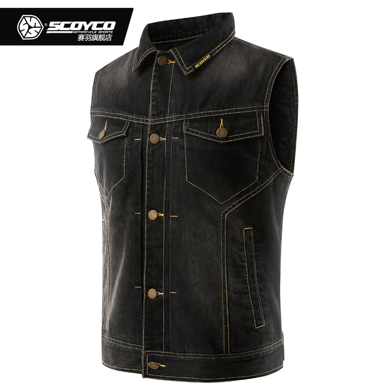 SCOYCO Motorcycle Jeans Jacket Breathable Summer Outdoor Sport Motorbike Riding Vest Motocross Racing Wearable Protective Jacket
