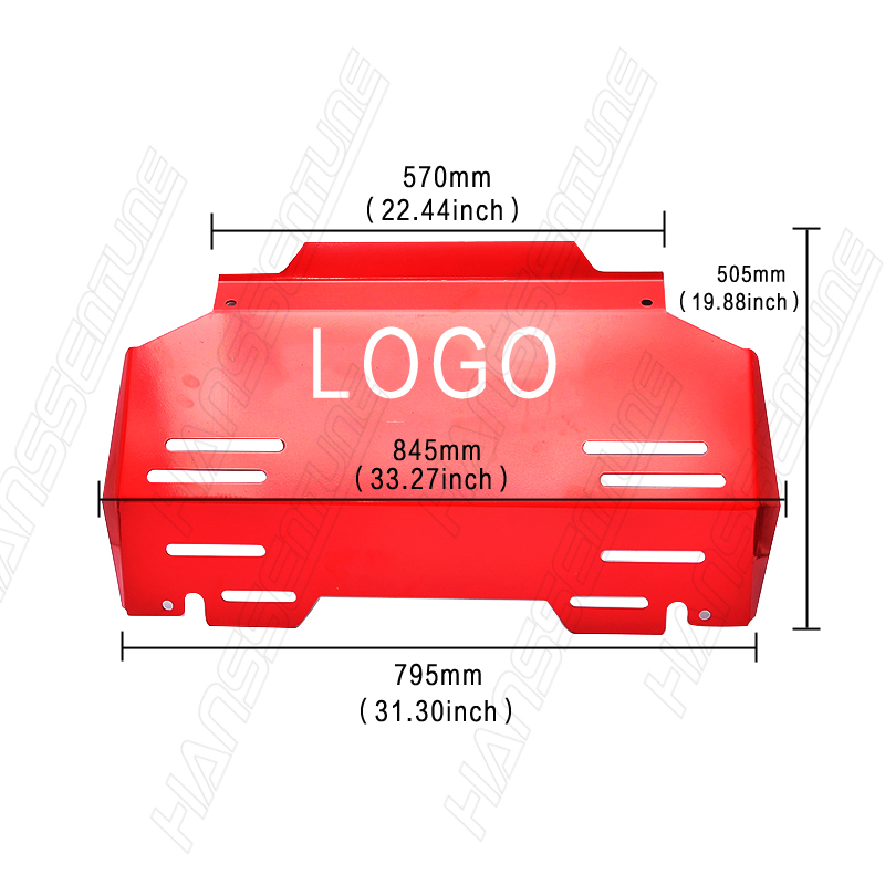 Image 3 - HANSSENTUNE 4X4 Accessories 3.5mm Front Guard Engine Protection Skid Plate For Hilux Revo 2015+-in Protective Frames from Automobiles & Motorcycles