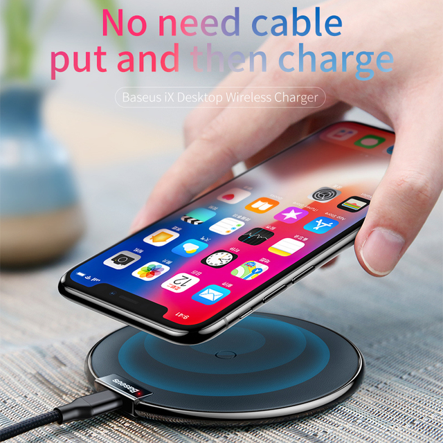 Cool Stuff Baseus Leather Qi Wireless Charger For iPhone X 8 Plus Samsung Galaxy Note 8 S8 S7 S6 Edge Desktop Fast Wireless Charging Pad 1