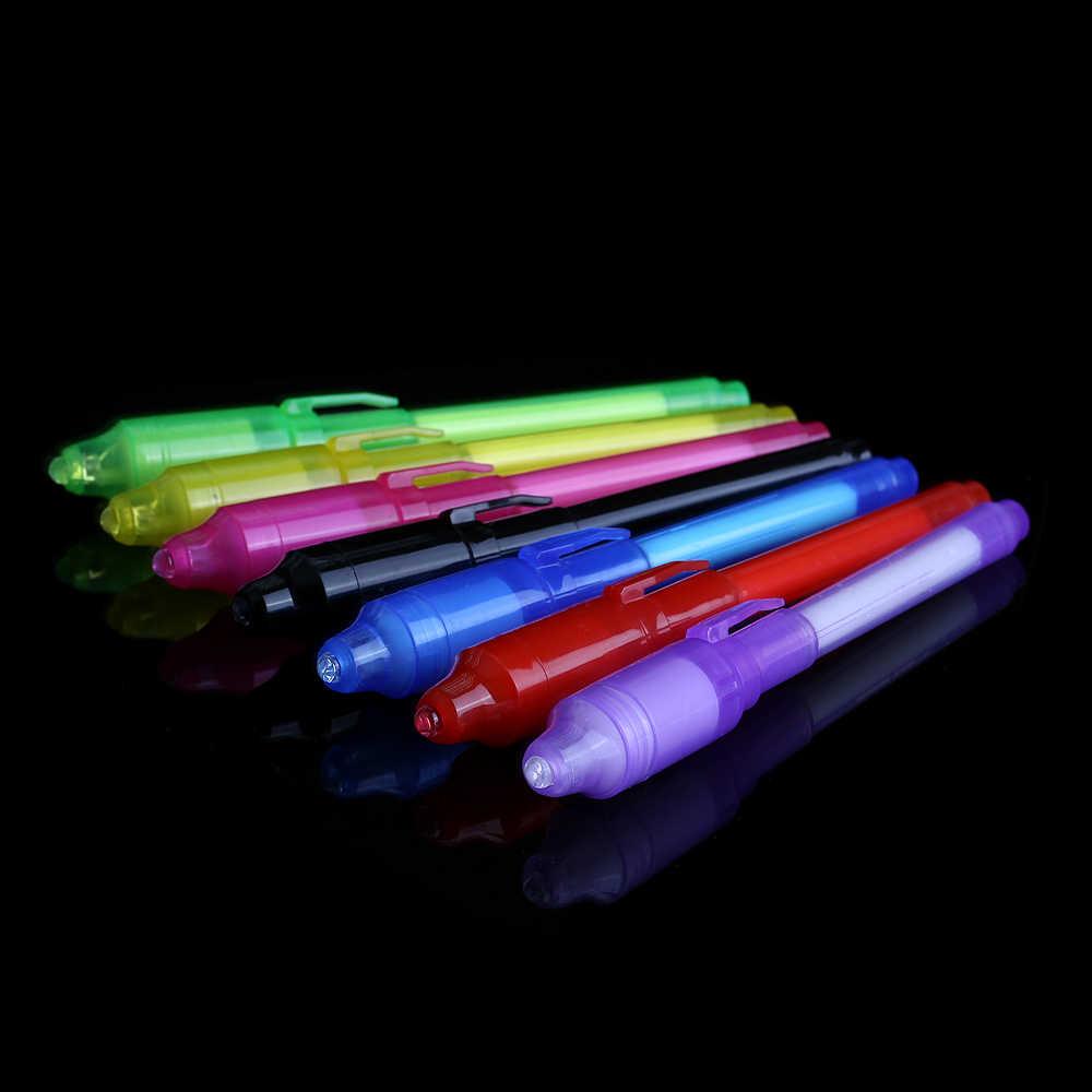 Giocattoli che si illuminano di Luce Luminosa di Magic Pen Scuro Divertente Della Novità Gag Popolare Giocattoli Magia Agitarsi Penna Per I Bambini di Età Pennello di Pittura