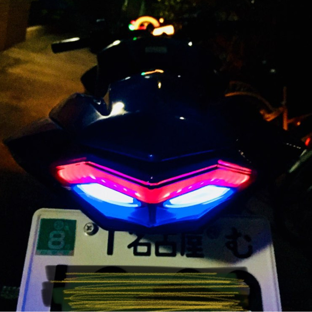 ninja300 New product motorcycle parts LED tail lamp tail light modified lamp turn signal lamp for kawasaki Ninja 300 Z250 for kawasaki ninja 250 300 z250 2013 2016 motorcycle accessories integrated led tail light turn signal blinker clear