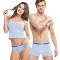 Nuevo 95% de algodón parejas amantes de la raya calzoncillos underwear tamptation bragas atractivas de los hombres cuecas boxeadores mujer rinoceronte
