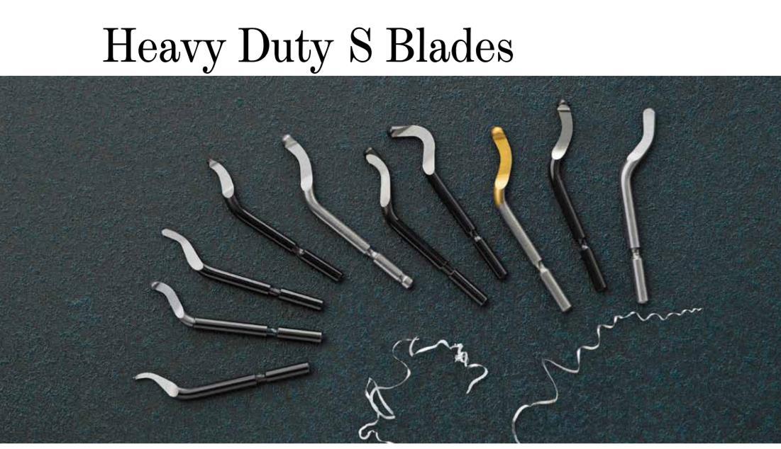 deburring blades 10pcs NOGA Heavy Duty 3.2mm Swivel blade S35 BS3510