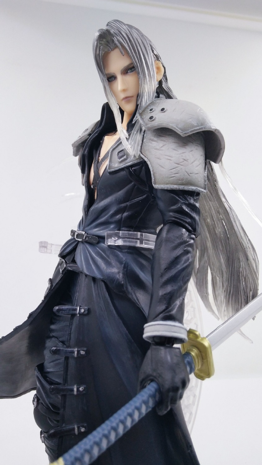 Us 36 56 47 Off Play Arts Final Fantasy Figure Final Fantasy Vii Sephiroth Figure Pa Play Arts Kai Cloud Strife 27cm Pvc Action Figure Doll Toys In