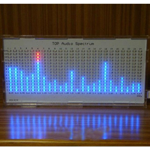 TOP QUALITY DIY AS1424 Música Espectro Espectro De Áudio SUPERIOR LED Piscando Kit