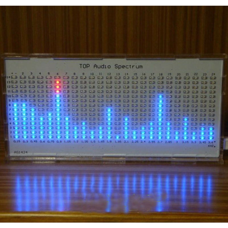 TOP Quality DIY AS1424 Music Spectrum  TOP Audio Spectrum LED Flashing KitTOP Quality DIY AS1424 Music Spectrum  TOP Audio Spectrum LED Flashing Kit
