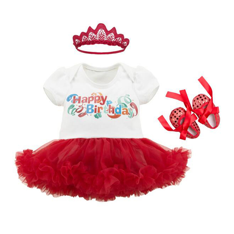 Infant Baby Romper Baby Girls Princess Outfits Happy -7515