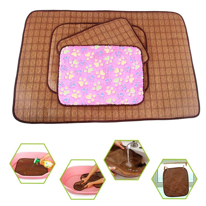 double side bamboo pet dog mat summer puppy cooling pad bed blanket for chihuahua teddy tb sale. Black Bedroom Furniture Sets. Home Design Ideas