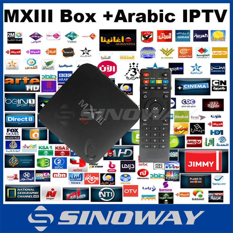 US $115 22 |android tv box MXIII 1G/8G with 1year arabic iptv account  android apps market free download,xbmc/Kodi mx3 mx iptv arabic-in Set-top  Boxes